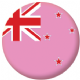 New Zealand Gay Pride Flag 58mm Button Badge